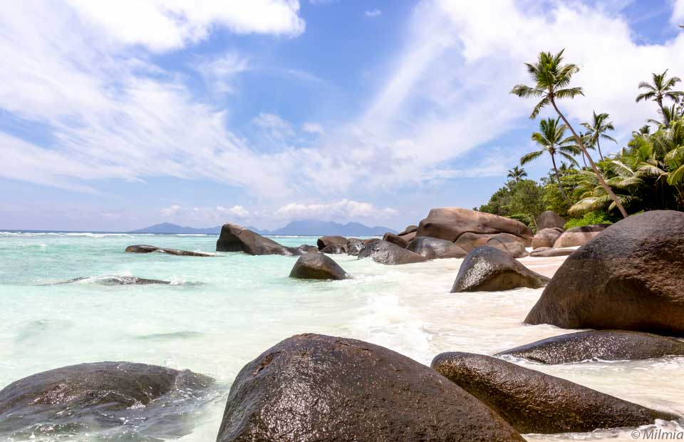 Silhouette Island Seychellen Granitfelsen